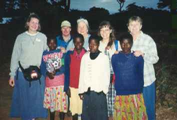 Jill, Duane, Kathryn, Sarah, Carol with their pen pals